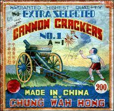 Cannon Firecracker Illustration