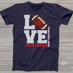 zoey's attic personalized gifts - Football mom dark Tshirt LOVE, $24.50 (http://www.zoeyspersonalizedgifts.com/products/football-mom-dark-tshirt-love.html)