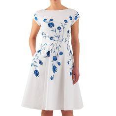 For the LK Bennett Lasa Blue Poppy Print Dress