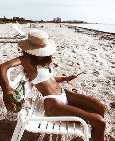 white bikini on the beach! white bikini on the beach! Model Beach, Shotting Photo, Beachwear, Swimwear, Swimsuits, Beach Bum, Bikini Beach, Summer Beach, Summer Body