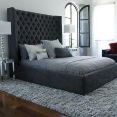 contemporary italian grey feature bedroom walls - Google Search