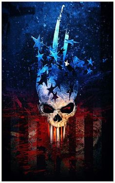 This would make a great patriotic painting w/out the skull