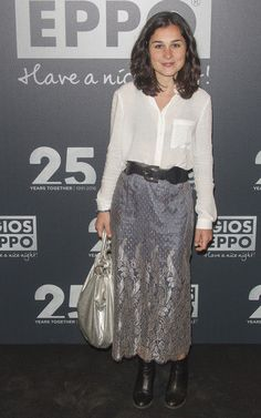 Nadia de Santiago en la fiesta del 25º aniversario de Gioseppo en Madrid.
