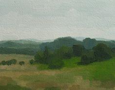 Original Landscape Painting- July field