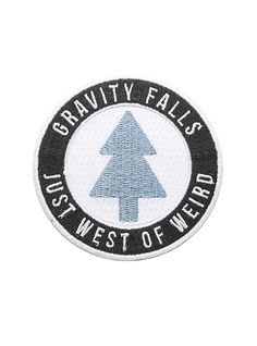 Gravity Falls Just West Of Weird Iron-On Patch,