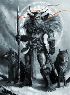 Odin, the mighty ruler of my ancestors. To think such a small girl would come from such beasts of men. That's my family lineage for you. ^-^