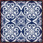Elegant blue and white Moroccan pattern. This design is available in variety of colors and products.