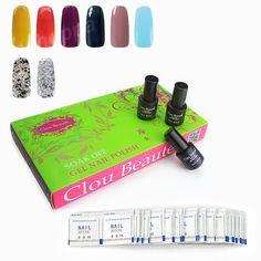 Clou Beaute 8 Colors SONP 028 & Remover Wraps UV Gel Nail Polish Wholesale Color Soak Off Nail Gel Polish