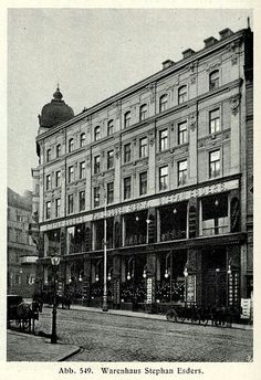Warehousing Stephan Esders around 1900 Warehouse Management System, Austro Hungarian, Lovely Shop, Shop Fronts, Old Pictures, Hungary, Austria, Most Beautiful Pictures, Past