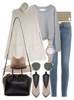 """Untitled #7452"" by nikka-phillips ❤ liked on Polyvore featuring Marc by Marc Jacobs, Paige Denim, Ray-Ban, Acne Studios, Joseph, rag & bone, Givenchy and Burberry"