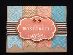 Monumental Moments: Embossing...I'm hooked!