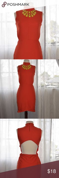 Orange sleeveless dress Fitted sleeveless dress, open back Fast Shipping No Trades, accept offers  bundle discounts with 2 items or more  Check out others items. Dresses Mini
