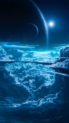 Planets and Cloud Wallpaper – Galaxy Art Wallpaper Earth, Planets Wallpaper, Cloud Wallpaper, Wallpaper Space, Scenery Wallpaper, Galaxy Wallpaper, Nature Wallpaper, Iphone Wallpaper, Space Planets