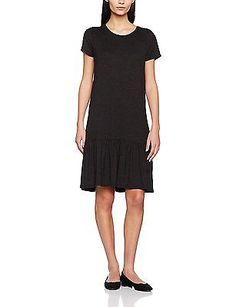38 (Manufacturer size: Medium), Black, ONLY Women's Onlmoster S/S Peplum Jrs Dre
