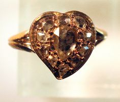 """This 1750s ring design is called """"A Witch's Heart"""", a romantic symbol meaning, """"You Bewitched Me"""" or """"You are Bewitching to Me"""""""