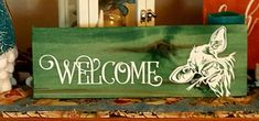 Sharing a sign by Shore Life Creations  Rustic wooden sign Country wooden sign Welcome Sign  #trendytree #wreathmaking *affiliate link