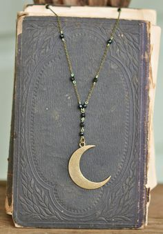 Mystic Moon Rosary Necklace Rosary Necklace Moon by LaLunetta