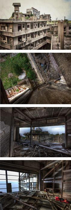 Hashima island, l'isola abbandonata Hashima Island, Beautiful Ruins, Scary Places, Island Nations, Ghost Towns, Abandoned Places, Urban Decay, Landscapes, Places To Visit