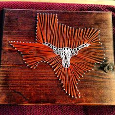 String art Texas Longhorns State Texas by StartActinLikeaLady, $40.00
