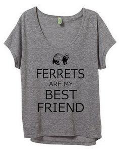 Ferrets are my Best friend Rabbit Womens by BluebeardStudio