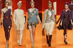 Indian Sari Drapes and Jacket Outfits at Hermes Spring Summer 2008 | Indian Inspired Fashion Goes International