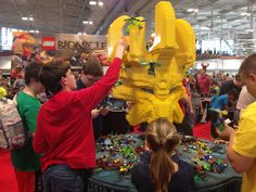 LEGO Bionicle is one of the busiest activity areas on the show floor.