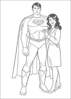 Dibujos para Colorear Superman 8