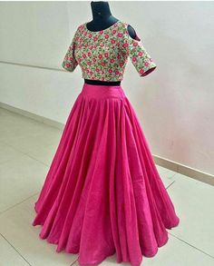 Product name : Price 1799 Shipping extra Fabric Lehengha tapeta silk with inner and flair semistitch Top unstitch banglori satin with zari and embroidery work Indian Gowns Dresses, Indian Fashion Dresses, Indian Designer Outfits, Skirt Fashion, Designer Dresses, Dresses Dresses, Lehenga Skirt, Lehnga Dress, Pink Lehenga