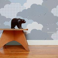 Aimee Wilder Clouds Storm Wallpaper + Bear Sculpture