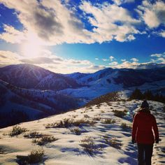 depth-of-winter hike - sun valley, idaho