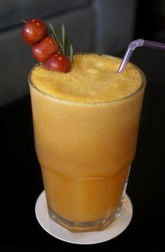 Refrescante y nutritivo jugo de naranja.