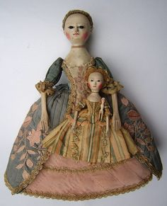 Muñecas de madera, circa 1760.