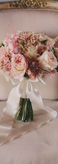 Romantic pink bouquet featuring roses, proteas, dahlias and astilbe by Adornments Flowers & Finery French Wedding, Dream Wedding, Glamorous Wedding, Wedding Hair, Floral Wedding, Wedding Bouquets, Wedding Decor, Wedding Ideas, 100 Layer Cake