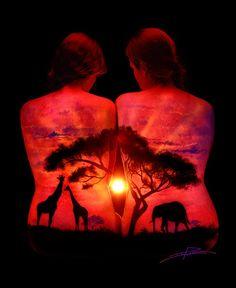 'Savannah Sunset' – UV BodyScape – John Poppleton