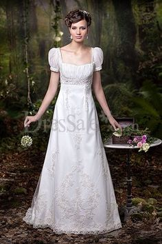 Empire waist, puff sleeves, square neck, AND lace!?!?!?!?!?!?....Spells out DREAM WEDDING DRESS!!!!!