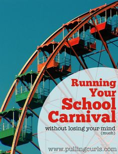 Running your school carnival can be a daunting task.  Here are some tips I learned during the 3 years of running ours.  It includes tips for food, games, vendors and more!