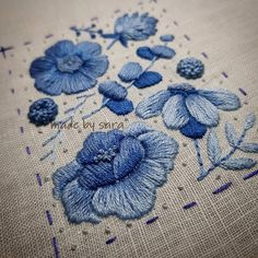 Wonderful Ribbon Embroidery Flowers by Hand Ideas. Enchanting Ribbon Embroidery Flowers by Hand Ideas. Embroidery Patterns Free, Silk Ribbon Embroidery, Crewel Embroidery, Embroidery Hoop Art, Hand Embroidery Designs, Cross Stitch Embroidery, Flower Embroidery, Satin Stitch, Embroidery Techniques
