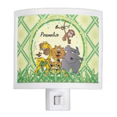 #DesignsByDonnaSiggy #Safari #Jungle #Baby #Animals #Nursery #Theme #gifts #baby #zazzlebesties #zazzle.com #Night #Lights