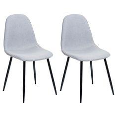 Porter Mid-Century Modern Pebble Dining Chairs (Set of 2) - LumiSource