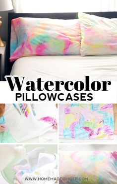 This easy pillowcase craft for kids uses sharpies and alcohol to create a beautiful watercolor effect. Perfect craft for a sleepover!