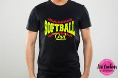 Grab now your copy of the awesome Tee Crafter Bundle packed with 60 crafty packs with over 300 SVG cutting files! Softball Shirts, Softball Mom, Great Father's Day Gifts, Dad To Be Shirts, Custom T, Cool Tees, Cutting Files, Shirt Designs, Dads
