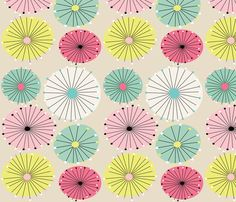 Starbursts fabric by nancysaurusrex on Spoonflower - custom fabric