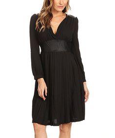 Karen T. Design Black Dress by Karen T. Design #zulily #zulilyfinds