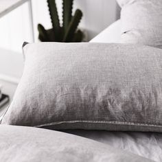 Home Republic - Vintage Washed Quilt Cover Grey Marle - Bedroom - Quilt Covers & Coverlets - Adairs Online Home Republic, Cover Gray, Quilt Cover, Out Of Style, Linen Bedding, Duvet Covers, Bed Pillows, Grey, Times