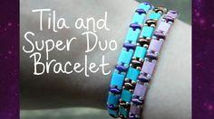 DIY Tila and Super Duo Bead Elastic Bracelet! ¦ The Corner of Craft