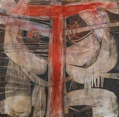 Cecil Skotnes - Abstract, Painting on incised panel on MutualArt.com
