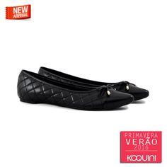 Básico do preto, conforto do matelassê e charme do bico fino #koquini #sapatilhas #euquero Veja mais em: http://koqu.in/1isK7zk