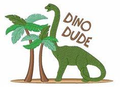 Dino Dude embroidery design
