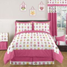 Add a touch of whimsical charm to your little one's room with the Happy Owl Bedding Set from Sweet Jojo Designs. Featuring a playful owl print, this colorful set instantly transforms any bedroom. Girls Twin Bedding Sets, Twin Comforter Sets, Queen Bedding Sets, Luxury Bedding Sets, Girls Bedroom, Bedroom Ideas, Owl Bedrooms, Master Bedroom, Kids Twin Size Bed