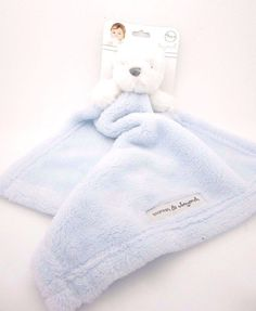 Baby Security Blanket White Bear #Nunu Baby Blue Blankets & Beyond NWT  #BlanketsBeyond